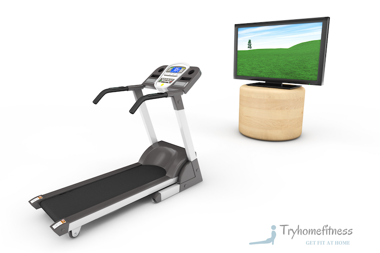 Treadmill for seniors and tv to watch