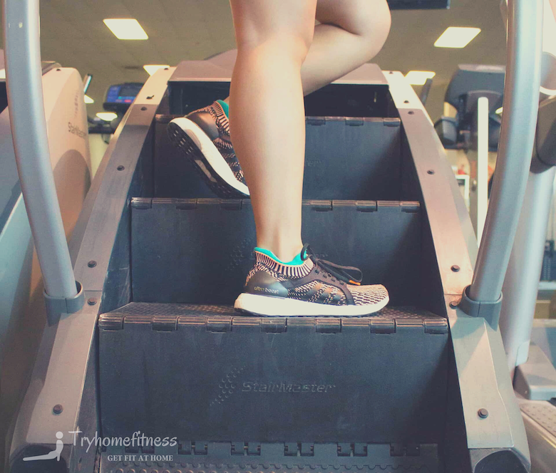 girl on a stairmaster