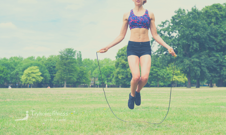 Best skipping rope girl in the park