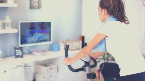 girl on best upright bike