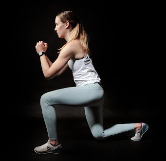 Girl doing a lunge