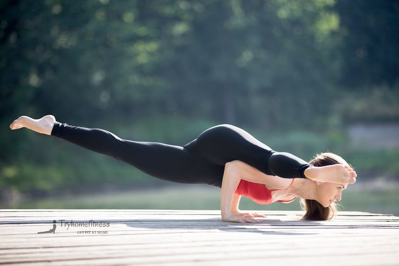 best squat proof leggings as shown by woman performing yoga pose
