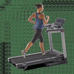 Woman on the Lifespan TR2000e treadmill