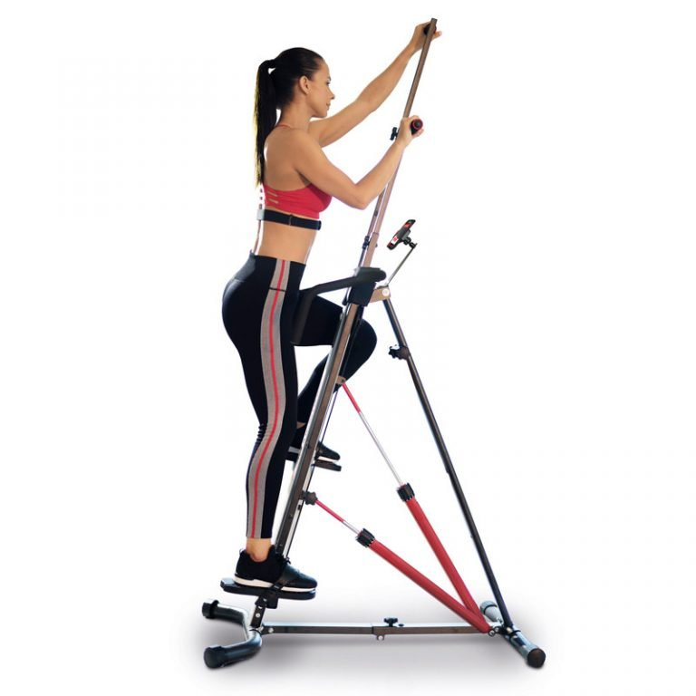 Woman on a MaxiClimber XL-2000